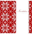 Christmas card nordic knitted pattern vector image