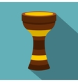 Darbuka musical instrument icon flat style vector image