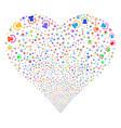 alarm fireworks heart vector image