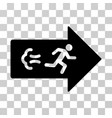 exit direction icon vector image