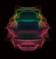 abstract colorful mesh on dark vector image
