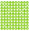 100 cyber security icons set green circle vector image vector image