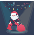 New Year of a Super Hero Santa vector image