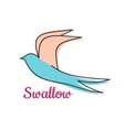 Abstract swallow bird symbol vector image vector image