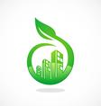 eco friendly modern building logo vector image