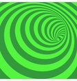 Green Spiral Striped Abstract Tunnel Background vector image