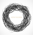 Absract black circle background with lines vector image vector image