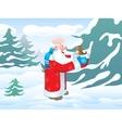 christmas santa bird vector image