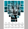 A 2016 tree and nature calendar vector image vector image
