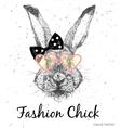 Cute Rabbit Print vector image