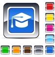 graduation square button vector image