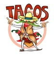 Came to eat time tasty tacos vector image