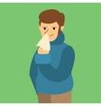 Cartoon Sick Flu Man vector image