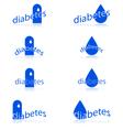 Diabetes icons vector image