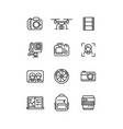 line video and photo production camera icon vector image