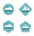 Mountain white logo on blue background vector image