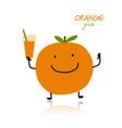 orange cute character for your design vector image