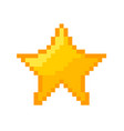 Pixel star icon gold pixel star vector image