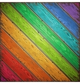 Rainbow Old Wooden Painted Wall vector image
