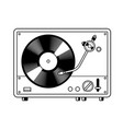 record player turntable coloring book vector image