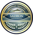 salmon gold icon vector image