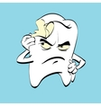 The aching tooth with caries a comic book vector image