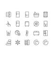 Line Fridge Icons vector image