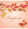 Vintage background with border of patch leaves vector image