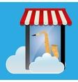 mobile music online smartphone saxophone vector image