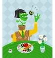 Vegetarian parody vector image