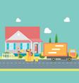 cartoon delivery service concept vector image