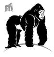 stylized gorilla vector image vector image