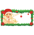 Santa Girl vector image vector image