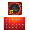 music store icon set vector image