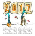 2017 Sign Men calendar vector image vector image