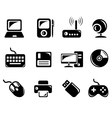 Hardware icons vector image
