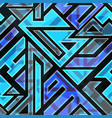 blue technological seamless pattern vector image