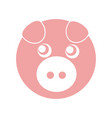 cute piggy character icon vector image