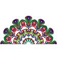 Decorative tail peacocks vector image