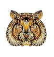 ethnic tiger vector image