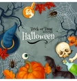 Halloween Trick or Treat Horror Night greeting vector image
