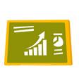 set of charts on the green board cartoon vector image