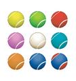 tennis balls vector image