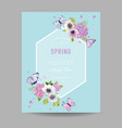 wedding invitation baby shower frame template vector image