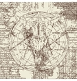 skull of goat and pentagram vector image vector image