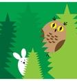 rabbit owl icons vector image