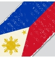 Philippines grunge flag vector image