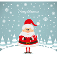 Santa Claus with caramel cane The Christmas card vector image