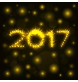 2017 gold shine numbers for greeting cards vector image