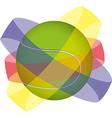 Tennis ball design vector image